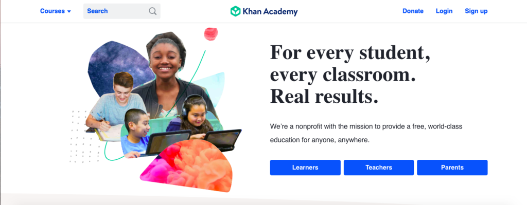 KHAN ACADEMY - NON-PROFIT E-LEARNING PLATFORM