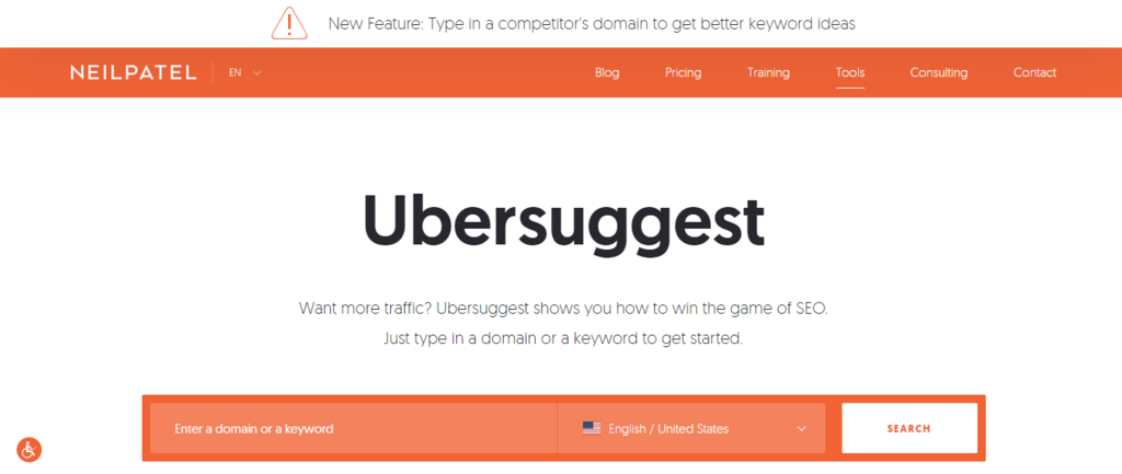 Keyword Tool Ubersuggest