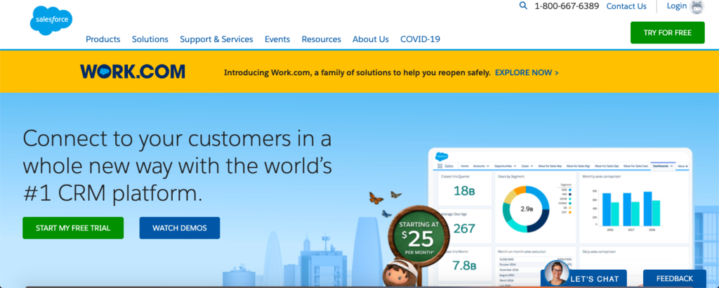 SALESFORCE CRM SOFTWARE