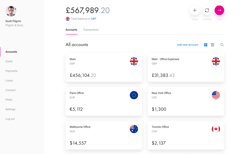 Revolut Unlimited Currency Accounts - Image: Revolut