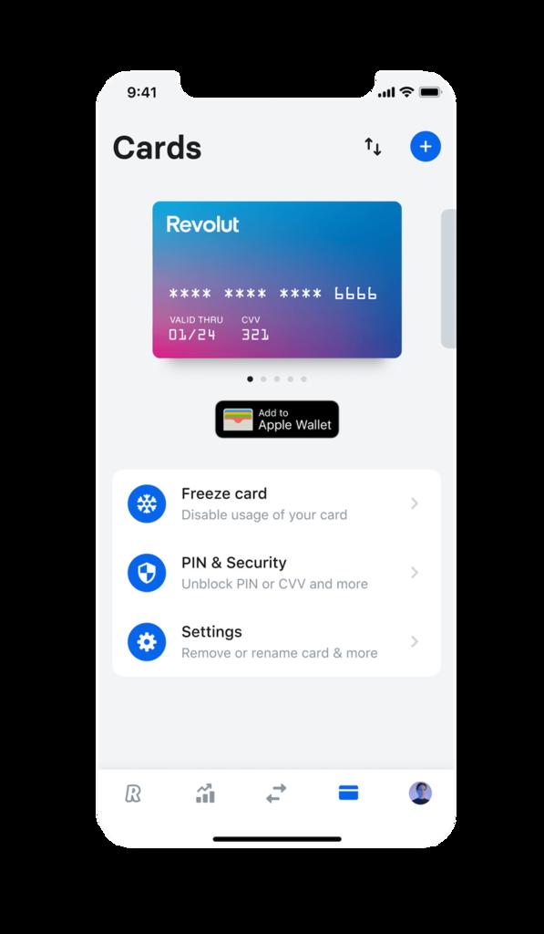 Revolut Disposable Virtual Cards